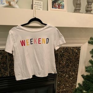 Colorful weekend cropped top!!